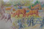 Луис Уэйн. Коровы на пастбище