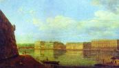 Федор Яковлевич Алексеев. Вид Дворцовой набережной от Петропавловской крепости. 1794