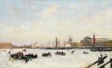Александр Карлович Беггров. Петербург зимой. 1898