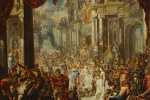 The parable about the feast in bad clothes