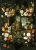 Holy Family framed flowers
