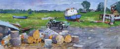 Alexander Shevelev. Solovki still life.Paper,watercolor,white 22.5 x 53 cm 2017
