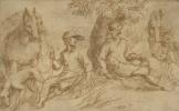 Ян Ливенс. Охотники, отдыхающие под деревом