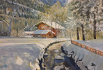 Lyudmila Nikolaevna Yevtushenko. Winter in Switzerland