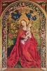 Maria in a pink gazebo