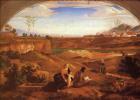 Фердинанд Оливье. Святое семейство с Иоанном Крестителем во младенчестве на фоне пейзажа