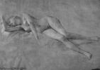 """Густав Климт. Лежащая обнаженная (Эскиз для """"Алтаря Диониса"""" в Бургтеатре)"""