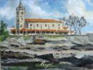 Отлив. Вид на церковь Санта-Мария. Луанко