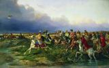 Николай Егорович Сверчков. Царь Алексей Михайлович с боярами на соколиной охоте близ Москвы. 1873