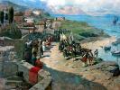 Вступление императора Петра І в Тарки 13 июня 1722 года