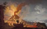 Пьер-Жак Волер. Вид на извержение Везувия из Атрио-дель-Кавалло.