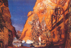 Лев Самойлович Бакст (Леон Бакст). Эскиз декорации к балету Голубой бог