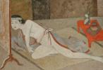 Бальтюс (Бальтазар Клоссовски де Рола). Японская девушка у красного стола