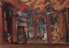 "Константин Алексеевич Коровин. Дворец и гавань. Эскиз декорации к балету А. Ф. Арендса ""Саламбо"""