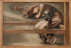 "Edward Coley Burne-Jones. Etude to ""Ship Rose"""