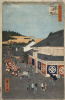 """Street in the district City. The series """"100 famous views of Edo"""""""