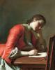 Девушка, пишущая любовное письмо