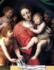 Мадонна со спящим младенцем и три ангела