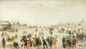 Хендрик Аверкамп. Зимняя сцена на ледовом канале