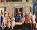Saints Cosmas and Damian represent their brothers to Proconsul Lisias. The altar of the monastery of San Marco. Limit 1