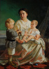 Портрет жены художника Анны Петровны с сыновьями Николаем и Петром
