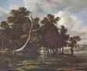 Пейзаж с дубовым лесом