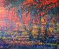 """Тропический закат"", акрил, холст. Tropical sunset. Acrylic on сanvas."