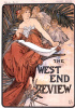 Cover of West end review, January 1898