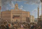 Джованни Паоло Паннини. Лотерейный розыгрыш на площади Монтечиторио
