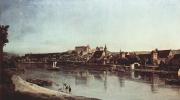 Вид Пирны, Пирна со стороны Копица с крепостью Зонненштайн