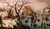 Хендрик Аверкамп. Зимний пейзаж с замком