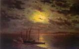 Лев Львович Каменев. Лунная ночь на реке