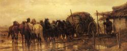 Адольф Шрейер. Сцепление лошадей в повозку