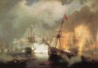 Иван Константинович Айвазовский. Морское сражение при Наварине 2 октября 1827 года
