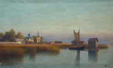 Лев Феликсович Лагорио. Вид городка со стороны реки. 1887