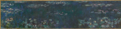Claude Monet. Water lilies green reflection