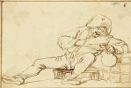 Адриан Янс ван Остаде. Выпивший крестьянин с кувшином