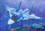 """Aircraft MiG-35. In the sky"""