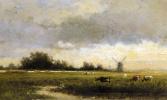 Виллем Рулофс. Крупный рогатый скот в польдерном пейзаже
