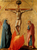 Crucifixion of Christ. Polyptych panel for Church of Santa Maria del Carmine in Pisa