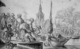 Ян ван Гойен. Сцена торга в Гааге