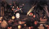 Микеланджело Меризи де Караваджо. Натюрморт с цветами и фруктами
