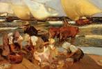 Хоакин Соролья (Соройя). Пляж в Валенсии (Полуденное  солнце)