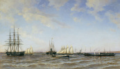 "Alexander Karlovich Beggrov. Racing yacht ""Power"" and ""Alexandria"" on the Small Kronstadt RAID. 1880"