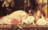Frederic Leighton. Mother and child