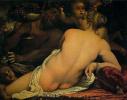Венера, сатир и амуры
