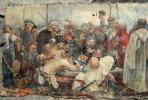 Неизвестный  художник. Запорожцы пишут письмо турецкому султану