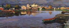 The Solovetsky monastery.Oil on canvas 43,8 x 105,3 cm 2014