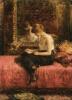 Чтение молодой дамы