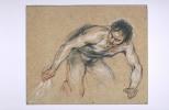 Антуан Ватто. Обнаженный мужчина на коленях